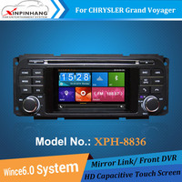 4.3 Inch Chrysler Grand Voyager car dvd player with navigation,capacitive touch screen,radio