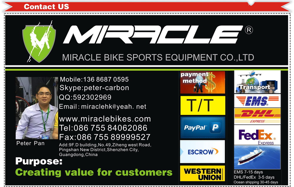 Miracle offset carbon seat post 27.2mm and 31.6mm Chinese carbon seat post