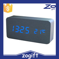 ZOGIFT Mini Digital Led Wooden Alarm Clock, Funny Kids Alarm Clock, Table Led Digital Alarm Clock