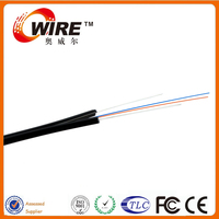 Self Support FTTH Indoor Drop Fiber Cable with Steel Wires Messenger