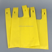 recycle non woven grocery store shopping handle bag