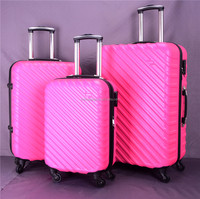 3pcs ABS cheap travel luggage sets with china market supplier