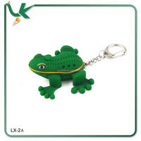 Frog Plastic Animal keyring with Led and sound
