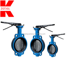 Wafer type soft seal EPDM/ptfe/viton/rubber lined seat butterfly valve