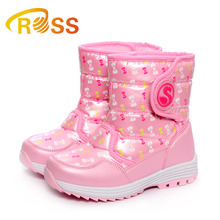 Lovely children anti-skid girl warm snow winter boots