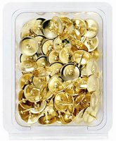 Brass plated and plastic case packed Thumb Tack(SDI BRAND from TAIWAN)