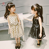 Customized Fashionable Dots Design Veiled Children Dresses Clothing Factory With Bowknot