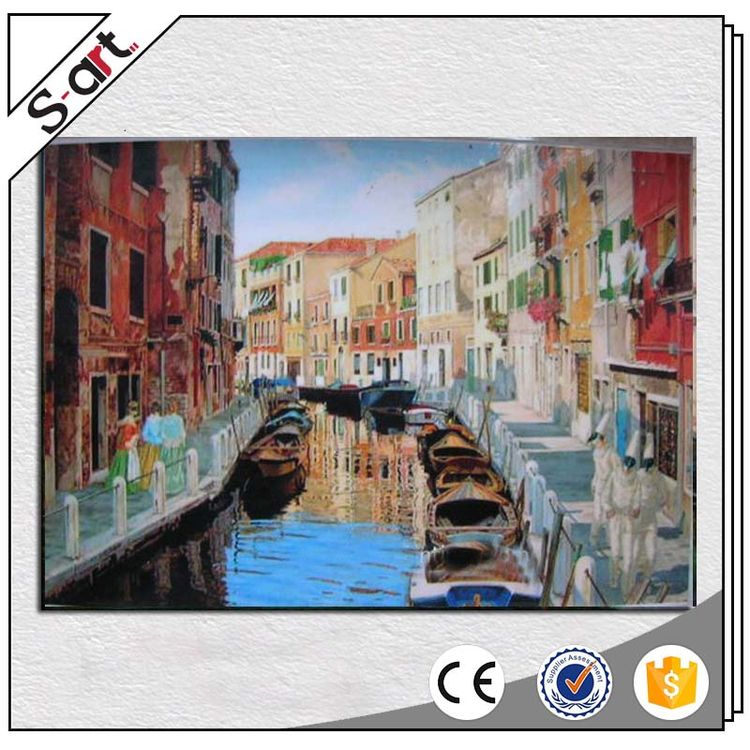 Quality primacy customized design venice landscape painting oil house painting