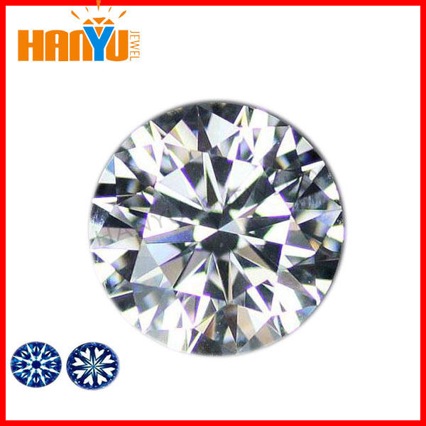 8 hearts & 8 arrows zircon machine cut cubic zirconia/Hearts and arrows star cut cubic zirconia