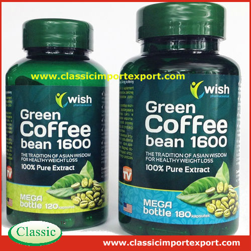 Green coffee bean extract weight loss capsules private label 500mg/1000mg