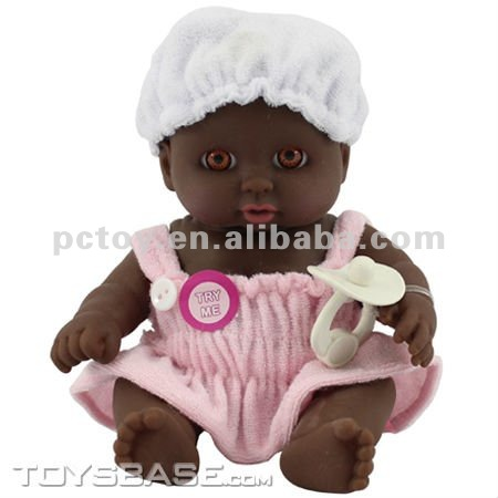 8.5 inch small plastic black craft dolls