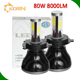 bi xenon h4-3 h4-4 h4 h7 h11 9005 9006 led lighted bulbs Double colors two /dual colors changing led headlight for car headlamp