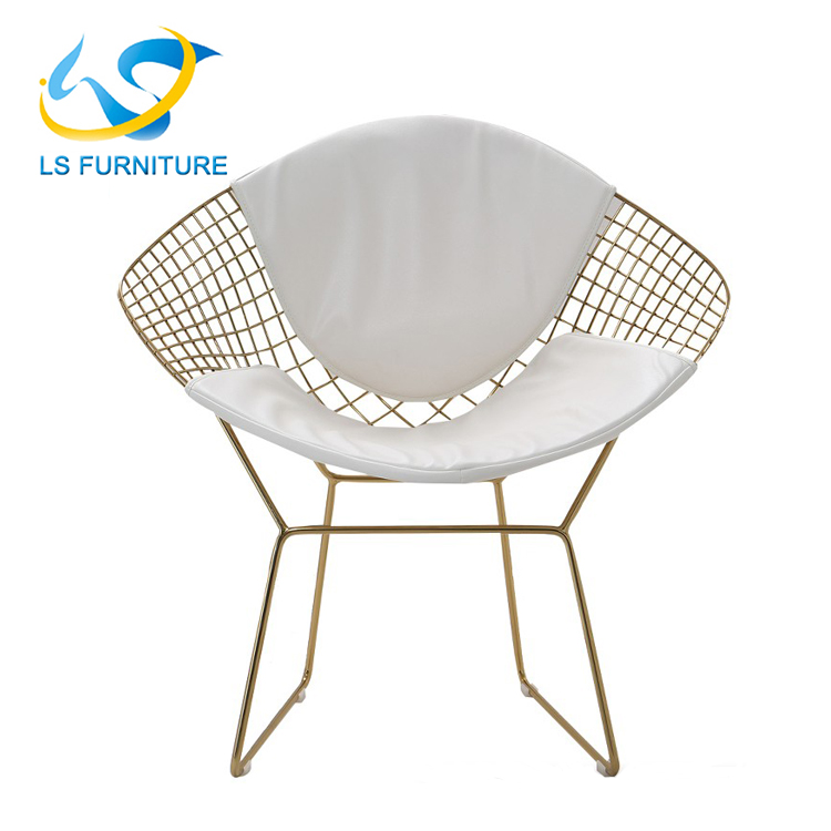 Diamond wire Chair for dining metal restaurant chair GAC4027