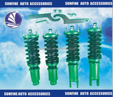 Racing Coilover Dampers Springs Lowering Kit Blue