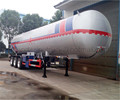 High quality 3-axle 56000L cooking gas LPG storage semi trailer