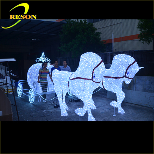 New products 2016 christmas decoration horse carriage for New outdoor christmas decorations 2016