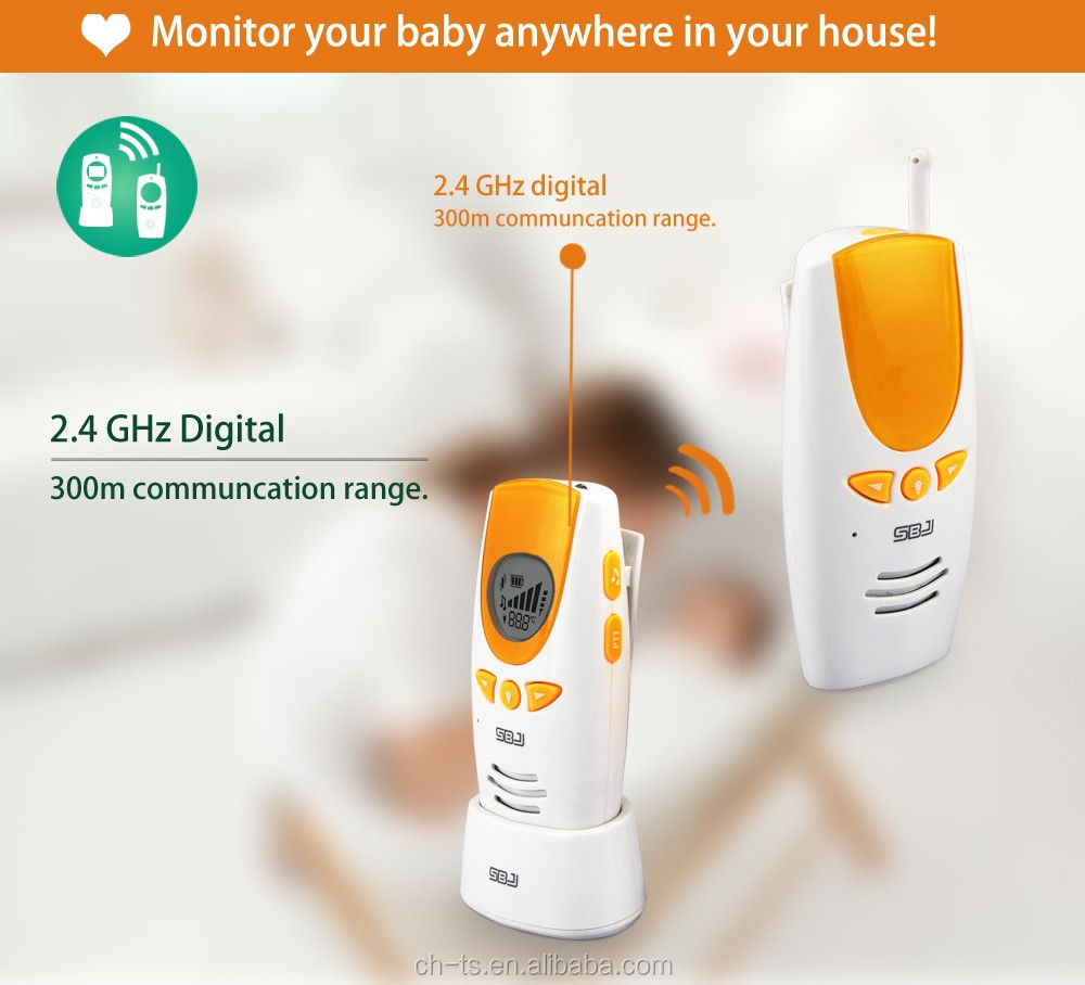 home interphone alarm two way communication portable digital wireless audio baby monitor