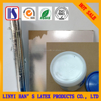 Han's water-based white glue for aluminum foil pvc gypsum board pvc film gypsum board adhesive