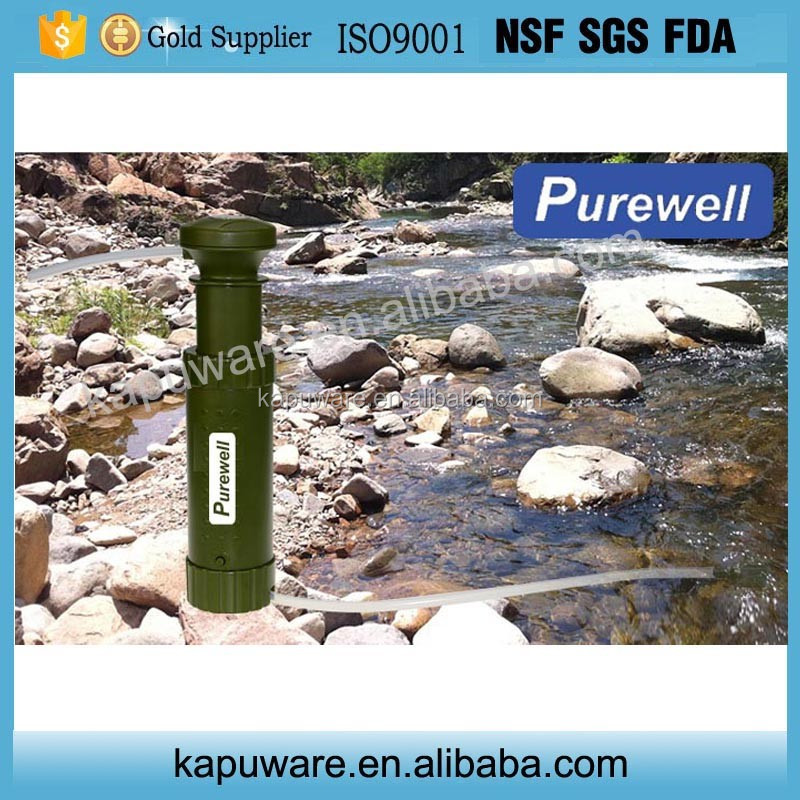 camping hiking outdoor traveling survival gear water filter with RO and carbon