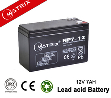12v 7ah 20hr maintenance free sealed lead acid battery with ce msds iso