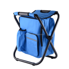 2017 Outdoor cooler bag folding chair bag, insulated backpack fishing stool,picnic cooler bag chair camping cooler bag