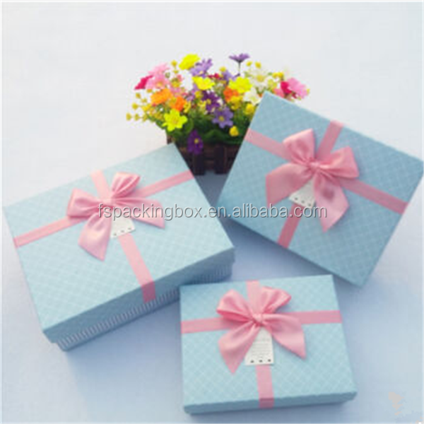 Custom logo cardboard suitcase gift box/blue and pink paper box packaging/custom design paper jewelry box