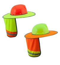 wholesale High quality reflective helmet sun shade hi-vis <strong>safety</strong> hard hat neck shade