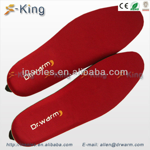 Electric heating battery foot warmer pad boot insoles