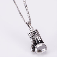 Yiwu Aceon Stainless Steel Casting Jewelry Manufacture Sports Line Boxing gloves Pendant