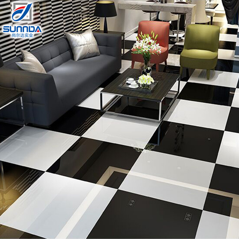 Sunnda China 600x600 800x800 white and black nano polished porcelain kajaria floor tiles bangladesh price
