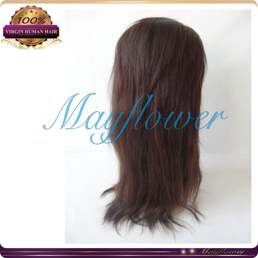 Swiss/French lace hair lace front wigs with baby hair Peruvian natural straight lace wig with silk top 2 toned/ black /blonde