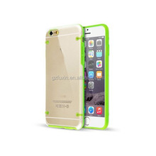 Colourful Frame PC material Transparent Phone Case Cover for iPhone6, for ipad air 2 case