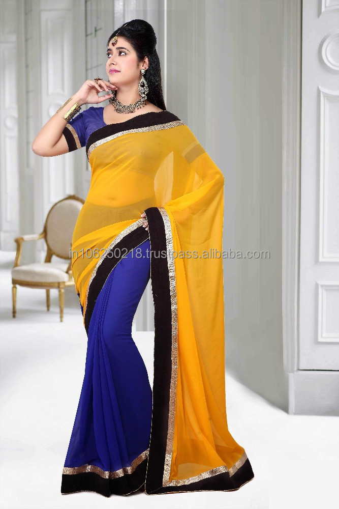 New Indian Bollywood 2 STATES Designer Stylish party wear Exclusive Saree...R3969