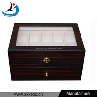 Custom lacquered wood handmade cabinet watch box