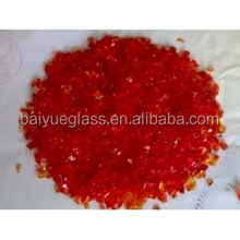 Decorative crushed glass chips