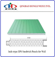 clear roofing EPS cement sandwich panel/wall sandwich panel