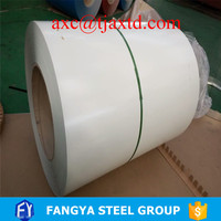 pre painted Gi coils fo refrigerators with Ral 9003 , semi glossy , 0.5 mm thickness , PE plastic film in outside