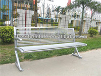 Powder coated steel tube furniture bench/tubular steel outdoor furniture