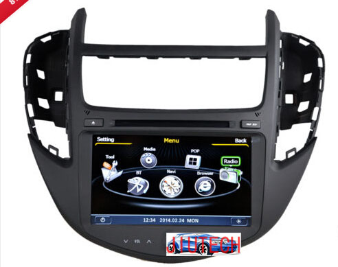 Auto Head Central Multimidia GPS Steering Bluetooth for Chevrolet Trax GPS Navigation DVD Player with 3G wifi