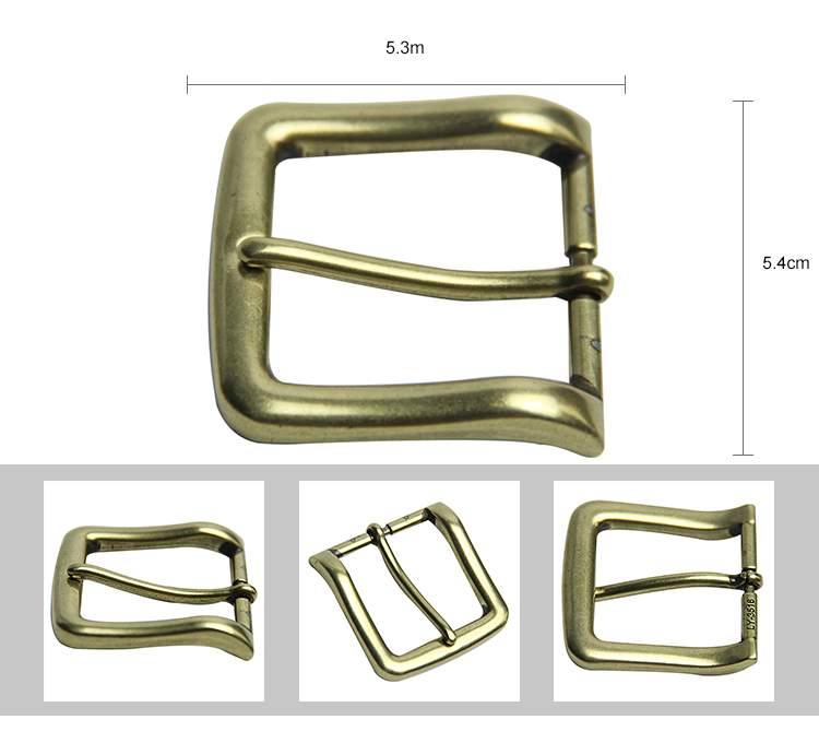 China supplier customized cheap blank solid brass 40mm pin belt buckles wholesale