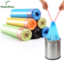 Biodegradable nylon disposable colored drawstring car trash garbage bag on roll