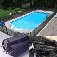 Cheap Portable Black Aluminium Rod Swimming Pool Fence