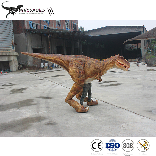 Wholesale artificial animatronic walking dinosaur rides for dinosaur culture and art carnival