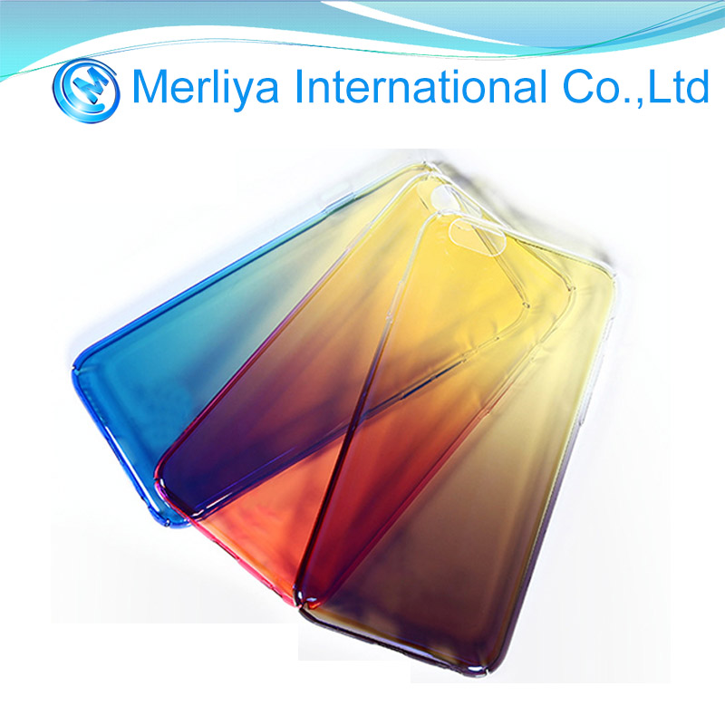 New Gradient Color Transparent Hard Phone Case Cover for iPhone6/7/8