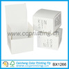 Custom small white cardboard handmade soap boxes