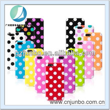 Wholesale Polka Dot existing mould tpu mobile phone case for iphone 5