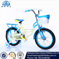 bicycles in bulk from china/fixed gear bike/16inch children bicycle with training wheels and portable saddle