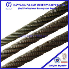 standard 6*19-6mm stainless used steel rope/wire rope/cable/strand