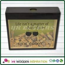 Wine cork shadow box holder with Embossed