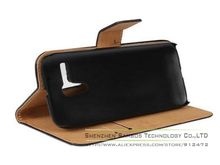 Genuine Leather Wallet Stand Mobile Phone Case for Motorola Moto G with Card Holder Slot